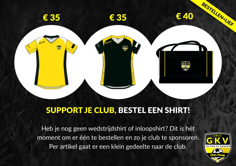 Support je club, bestel een shirt